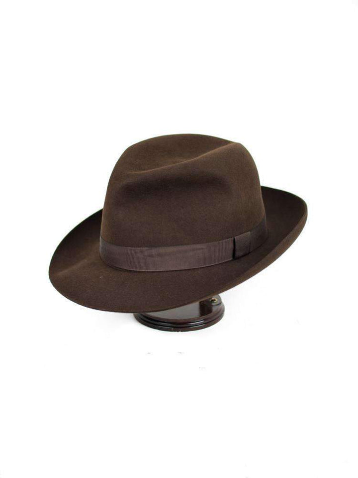 Brown Foldaway Fur Felt Hat - CHRISTYS' - H. Stockton