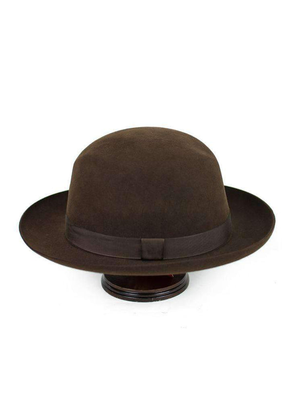 Chocolate Brown Foldaway Fur Felt Hat