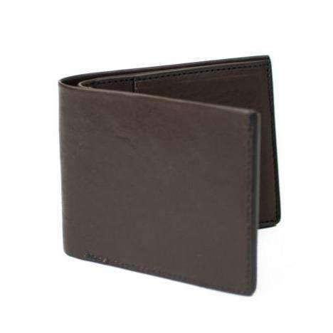Chocolate Tumbled Calfskin Classic Wallet