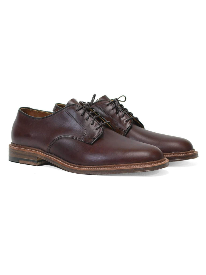 Brown Chromexcel Plain Toe Blucher - ALDEN - H. Stockton