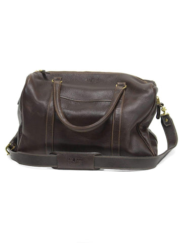 Chocolate Pebblegrain Duffle Bag