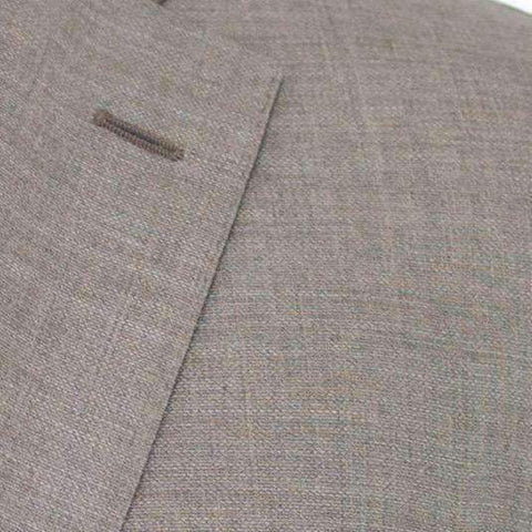 Brown Toast Hopsack Super 100's Wool Suit