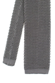 Pewter Silk Knit Tie