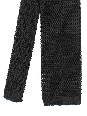 Black Silk Knit Tie - H. STOCKTON - H. Stockton