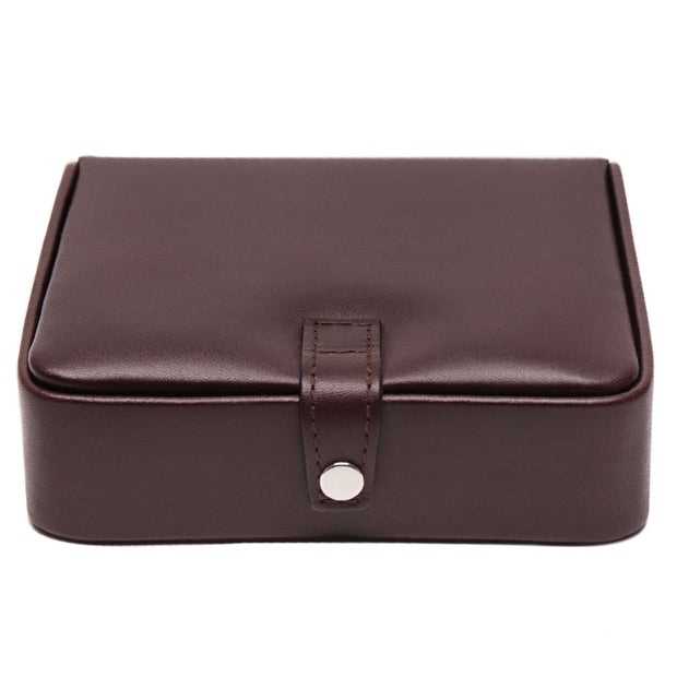 Brown Chestnut Leather Large Jewelry Box
