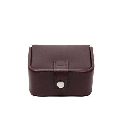Brown Chestnut Leather Small Jewelry Box