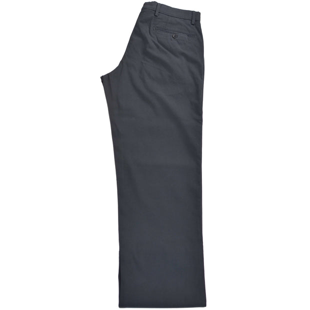 Navy-Char Washed Twill Chino Cotton Trouser