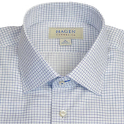 Spread Collar Navy Graph Check Dress Shirt