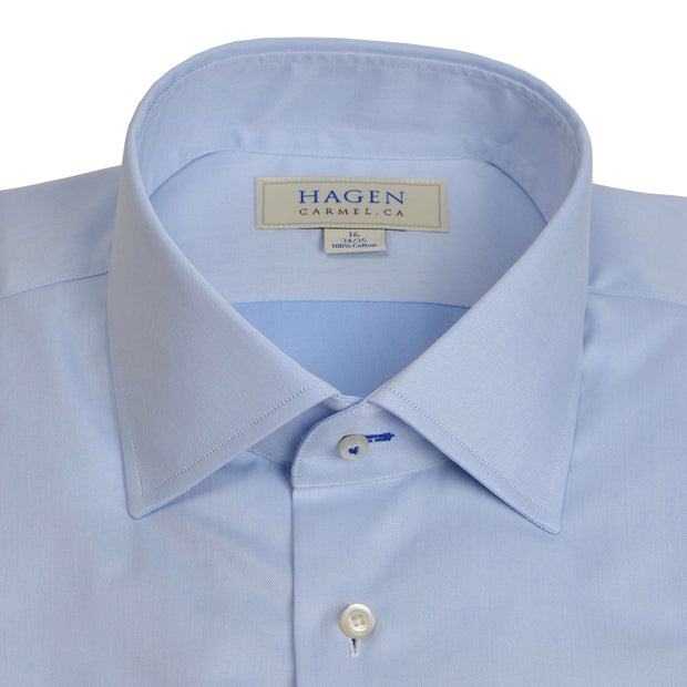 Spread Collar Blue Dress Shirt