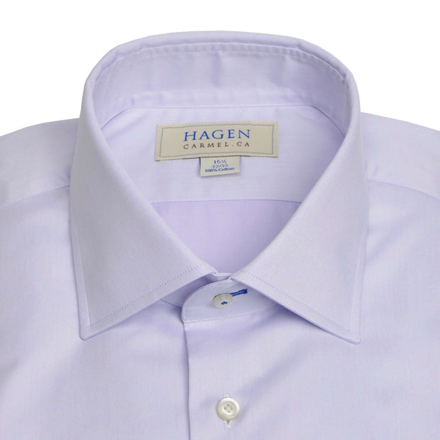 Spread Collar Purple Lavender Dress Shirt