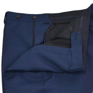 Close up navy nail head suit trouser