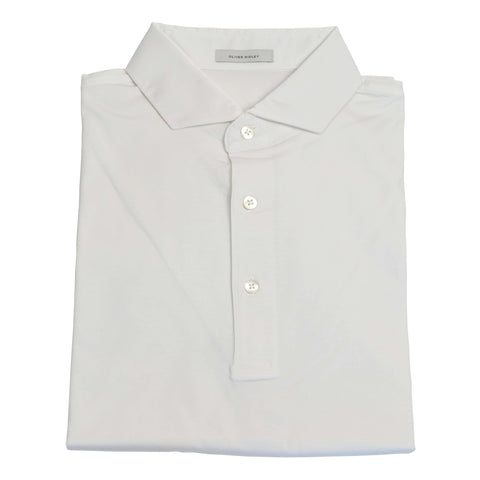 Short Sleeve White Supima Cotton Polo Shirt