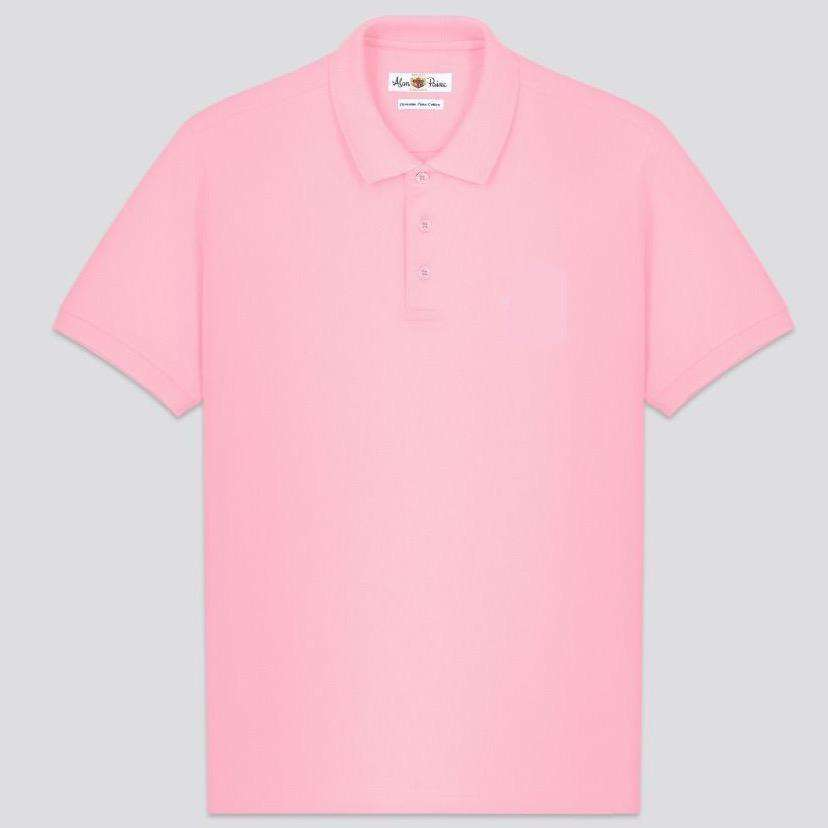 Pale Pink Cotton Polo
