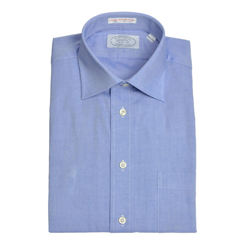 Spread Collar Blue Pinpoint Dress Shirt