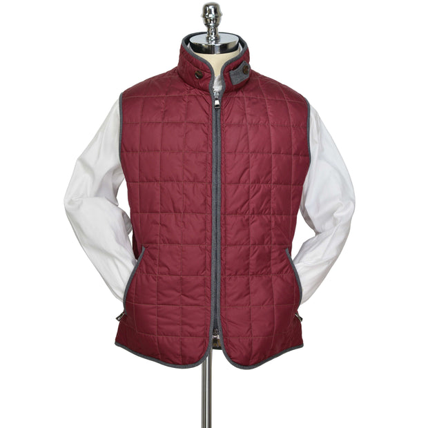 Red Cranberry Box Quilt Vest
