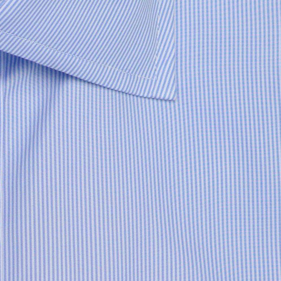 Blue & White Pinstripe Broadcloth