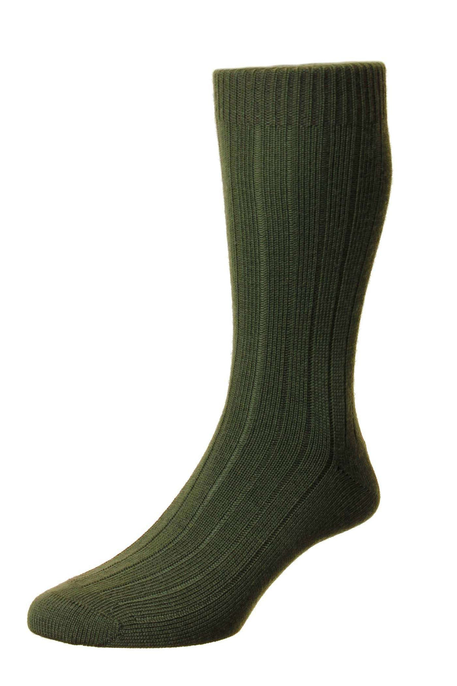 Dark Olive Sport Wool Mid-Calf