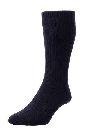 Black Sport Wool Mid-Calf