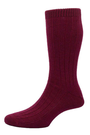 Wine Sport Wool Mid-Calf