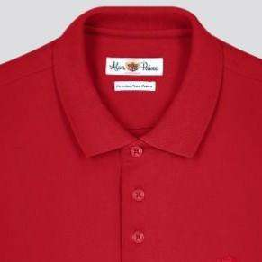 Rosso Red Cotton Polo