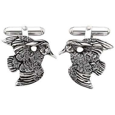 Sterling Silver Wood Duck Cufflinks