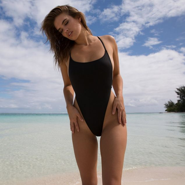 Super Sexy High Cut Thong Backless One Piece Swimsuit