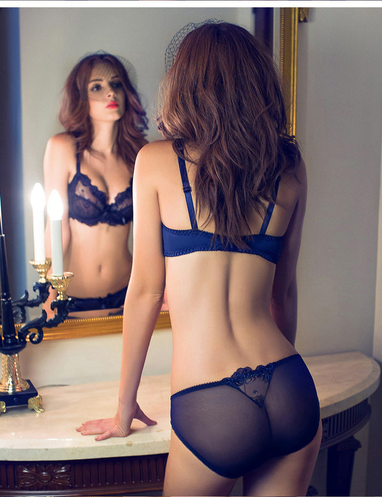 Sexy See Through Bra And Panty Sets Lingerie For Plus Size -1042