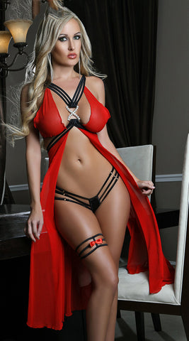 Sexy Hot Fashion Long Night Lingerie Dress