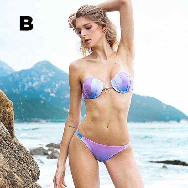 New Mermaid Shell Bra Bikinis Set