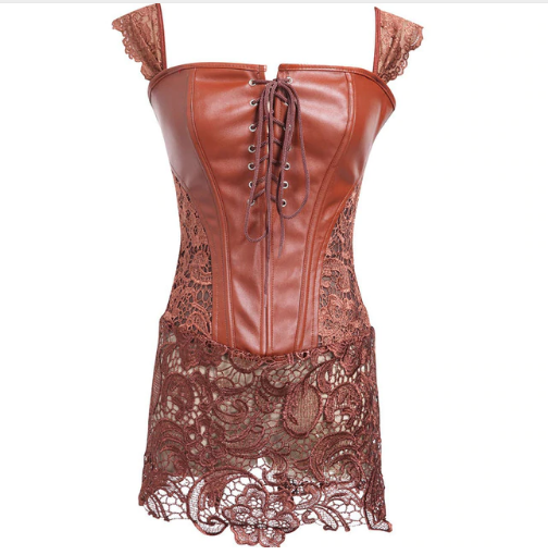 ae6745800f ... Leather Corset Waist Body Shaper