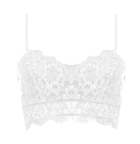 Sheer Lace Floral Bralette Strappy Bra