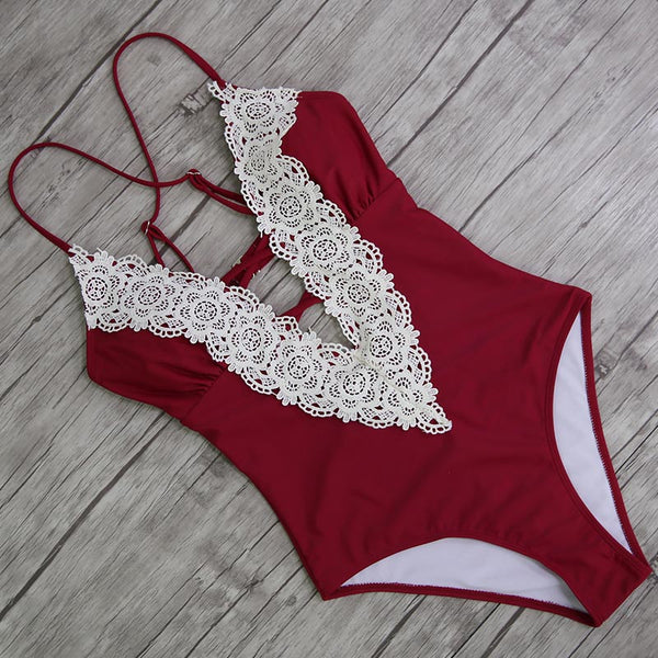 Gorgeous Lace One Piece Swimsuit