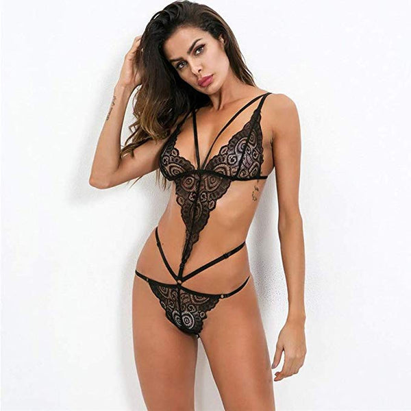 2019 Hot Sexy Erotic Backless Lace Nightwear