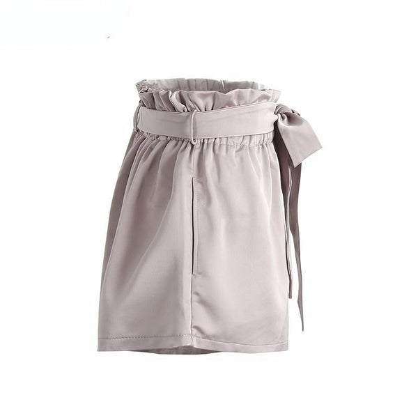 New Hot Summer Street Wear Ruched High Waist  Pocket  Shorts