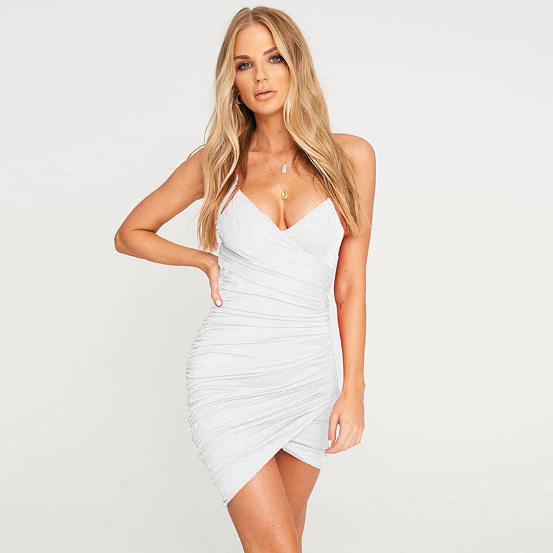 Deep V Neck Bodycon Dress