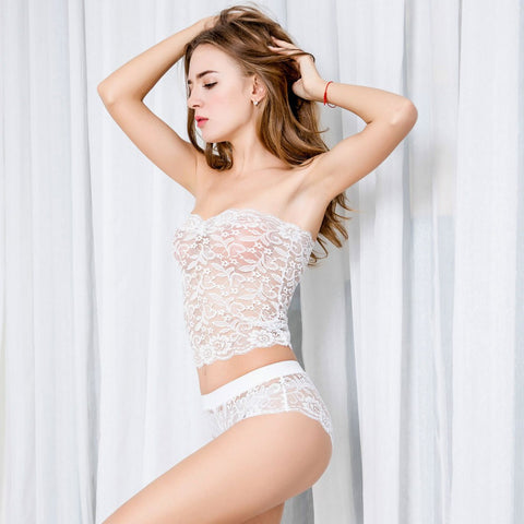 New Underwear Suit Sexy Corset Lace Push Up Vest