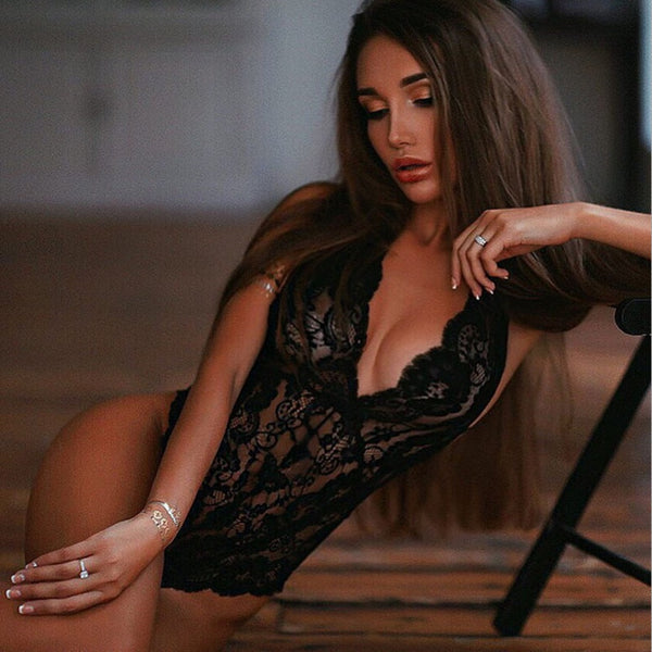Valentine's Hot Lace Deep Lingerie Sexy Erotic Underwear