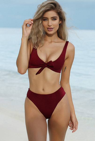 Sexy Brazilian Cheeky Glam Swimsuit Bikini Set