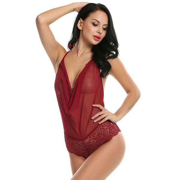 Sexy Lingerie Nightwear Teddies Bodysuits - Plus Size