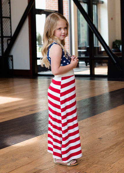 Mom & Daughter Matching Dress (American Flag)