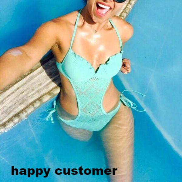 Hot 4 Colors Sexy Swimwear Push Up One Piece Swimsuit