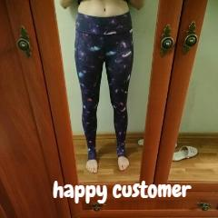 High Waist Printed Fitness Leggings
