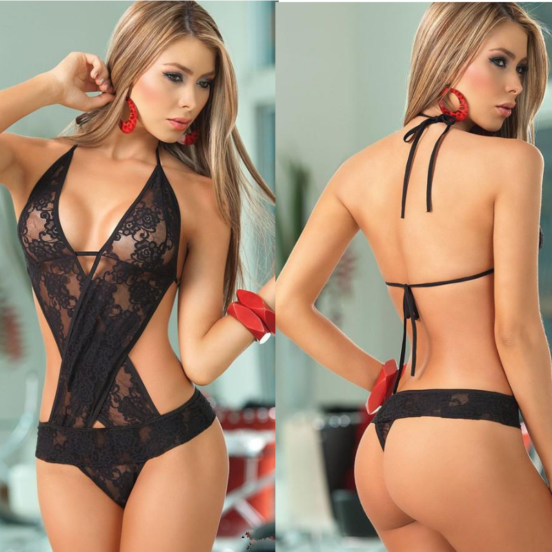 Crochet Mesh Hollow Out See-through Lingerie