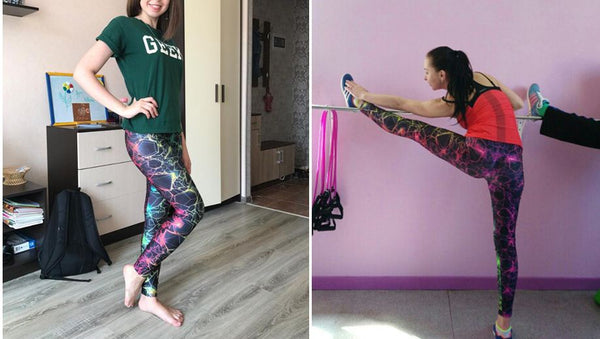 Super Cool 3D Printed Color Legging - Plus Size