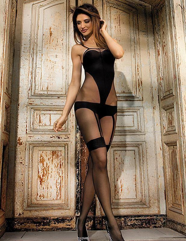 Sexy Hot Sheer Nylon Bodystocking Open Crotch Erotic Lingerie
