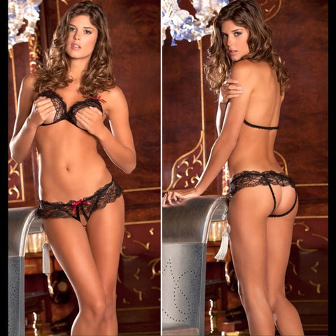 Hot Sensual Black Bra Set