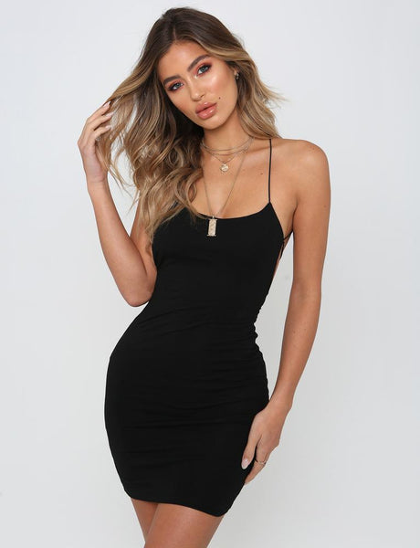 Sexy Plain Solid Color Bandage Dress