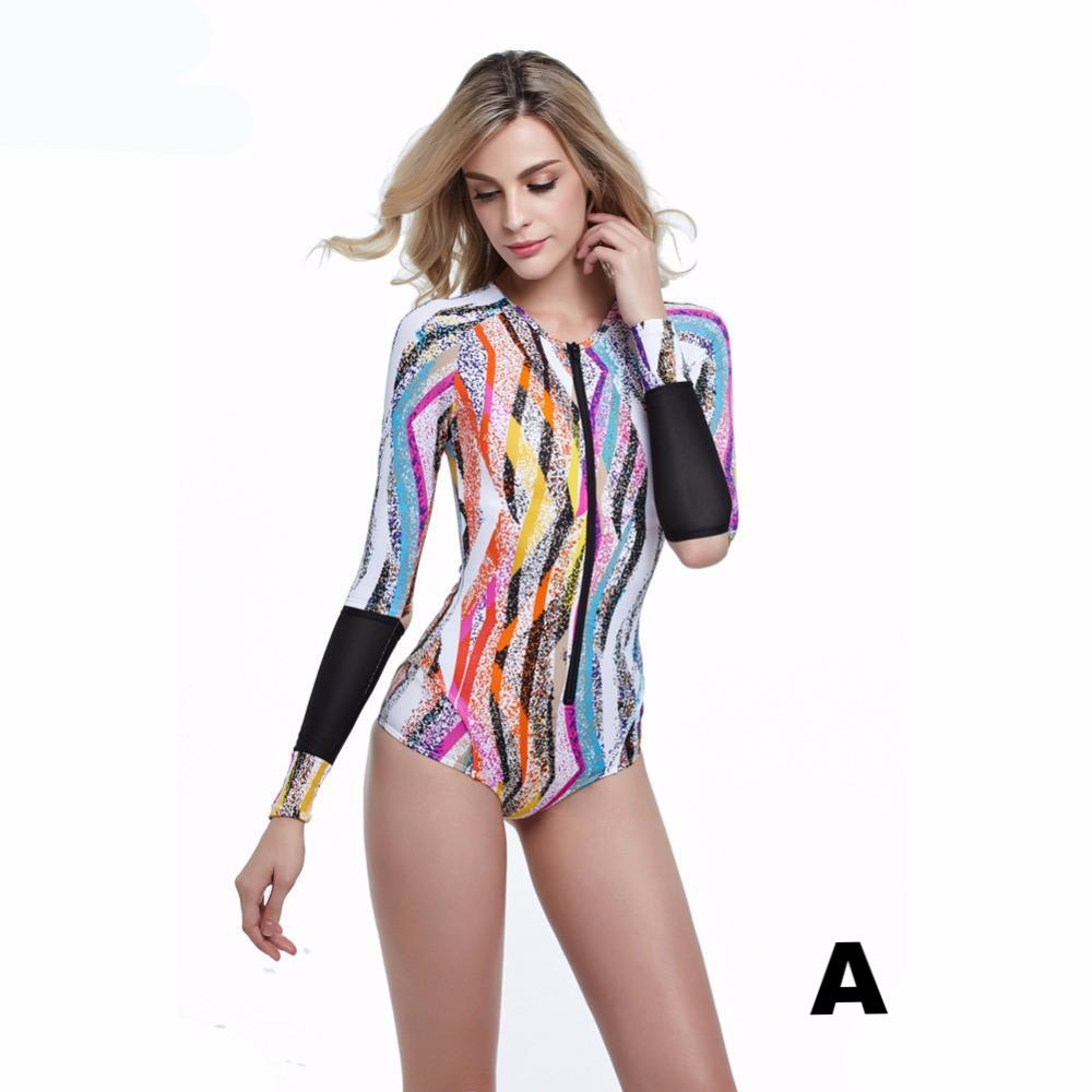 Sexy Long Sleeve One Piece Swimsuit