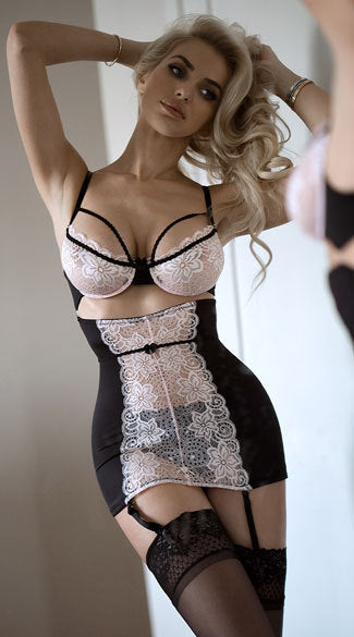 Sexy Lace Bra Waist Dress & Panty Lingerie Set