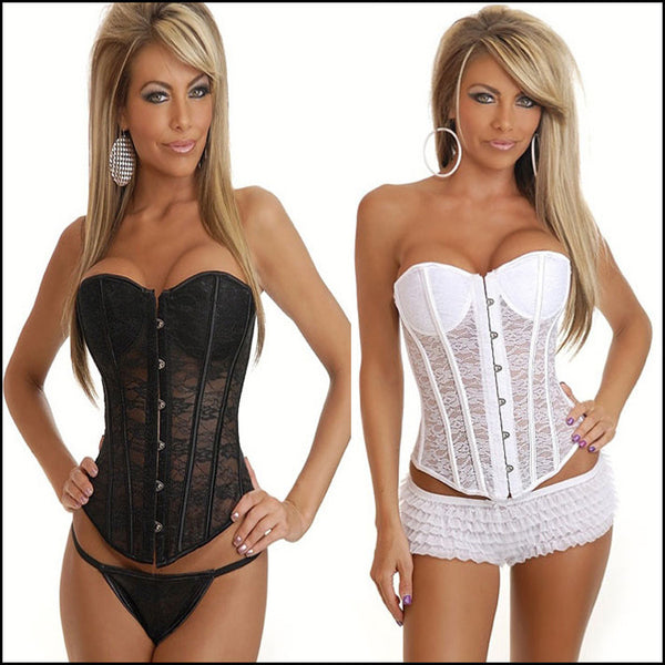 Sexy Overbust Corset Gothic With G String Lingerie